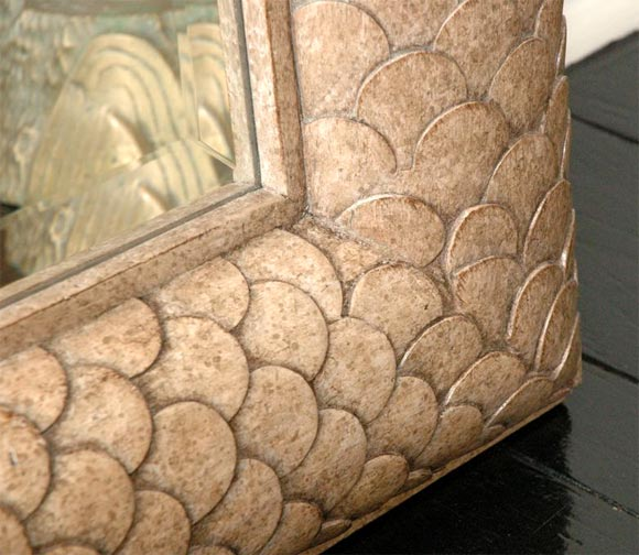 Fish Scale Mirror At 1stdibs